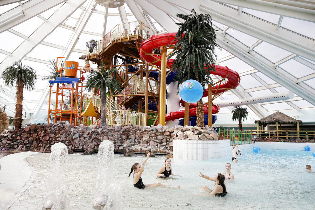 Lalandia water park children playing